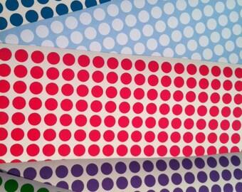 "Lot of 50 Vinyl Polka Dots 1"""