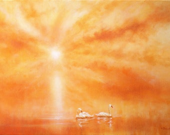 Swan Sunset IV
