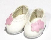 White Flower Slip-On for BJD Dolls Brownie, Pukipuki S00032H