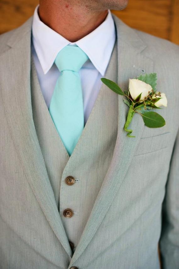 Items Similar To Aqua Tie Ties To Match J Crew Color
