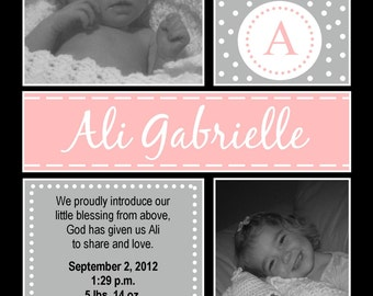 Little Blessing Birth Announcement