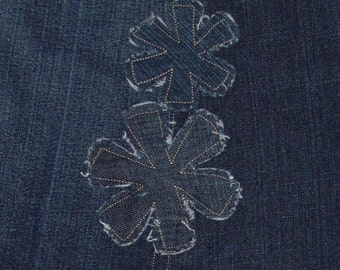 Custom Flower Patches for your Jean Skirt