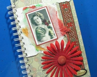 Vintage Inspired Collage Journal Notebook