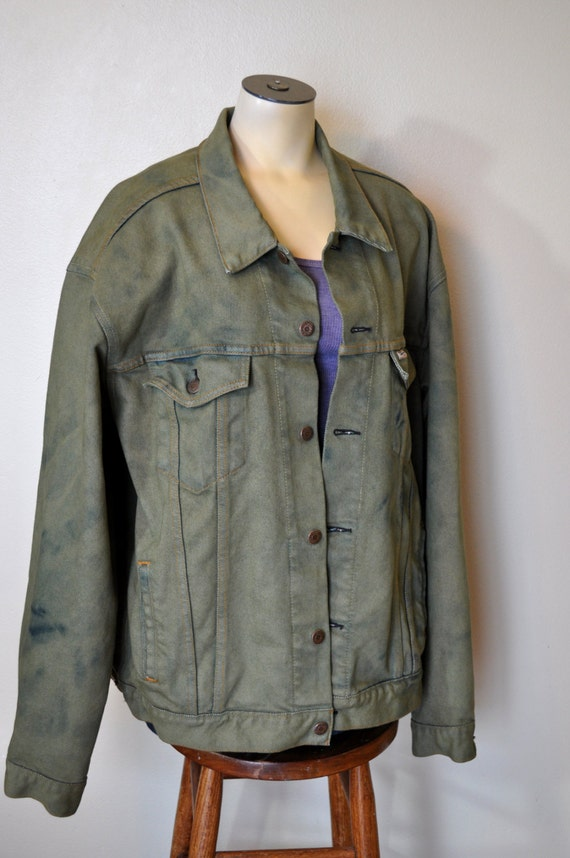 Olive Green Denim Jacket Photo Album - Reikian