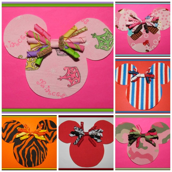 AMAZiNG SaLE-Your Choice of ONE from 6 DIY Minnie Mouse Kits with Matching Korker Bow-Save 2 DOLLARS NoW