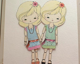 Articulated Paper Doll Prints - Ivory and Vanilla - Instant Download
