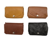 Leather Coin Purse - in various colours and leathers