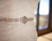 Ready to ship Bridal Dress Gown Beaded Jeweled Crystal Belt Sash