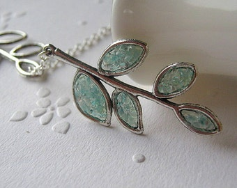 Stained Glass Branch, Branch Lariat Necklace, Bridesmaids Necklace, Twig Lariat Necklace, Lariat Jewelry