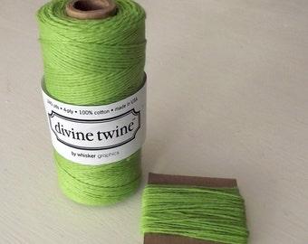 Green Solid Divine Twine 10 Yards