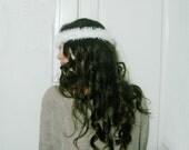 Hand knit angel loop fluffies headband,Infinity Wrap Bracelet