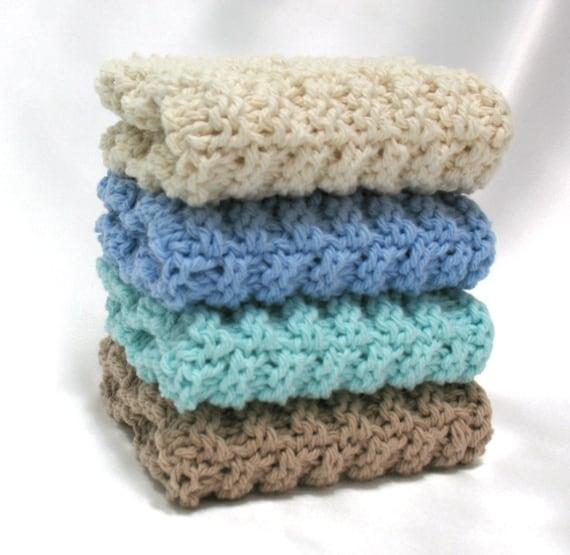 Knit Dishcloths Cotton Hand Knit Dishcloths Washcloths