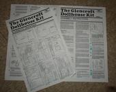 Glencroft Dollhouse Instruction Sheets