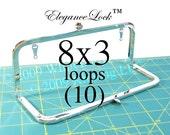 28% OFF 10 Nickel-free 8x3 purse frame with EleganceLock(TM) closure and loops