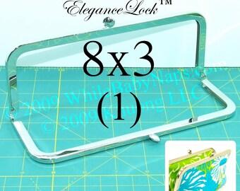 Nickel-free 8x3 purse frame with EleganceLock(TM) closure