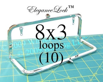 28% OFF 10 Nickel-free 8x3 purse frame with EleganceLock(TM) closure and loops