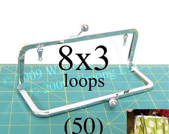 28% OFF 50 nickel-free 8x3 purse frame kisslock with loops