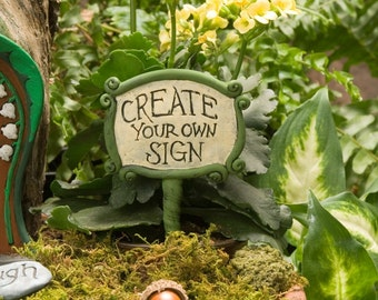 Personalized Fairy Garden Sign