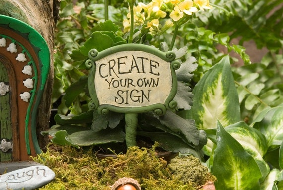 Customized Fairy Garden Sign