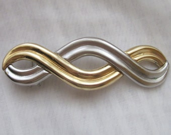 Big and Bold Silver and Gold  1984 Mimi di N Belt Buckle
