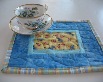 Quilted Mug Rugs or Personal Placemats Set of 2