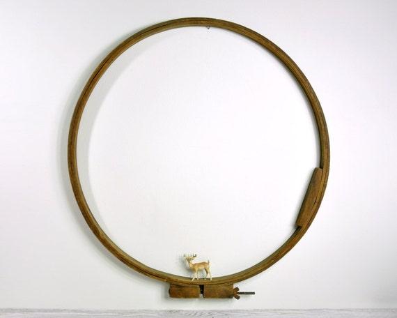Vintage Large Wood Embroidery Hoop