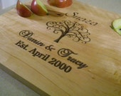 Personalized Established Family Name Cutting Board Carved Engraved wedding or anniversary gift