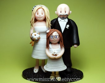 DEPOSIT - Custom Family Portrait Wedding Cake Topper