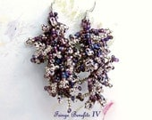 Fringe Benefits IV- OOAK earrings- beadwoven earrings- fringe earrings- artisan earrings- handmade earrings- beadweaving- gift for her
