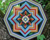 Golden Earth, a 16 inch Ojo de Dios, by custom order
