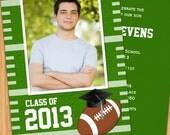 Class of  2015 Football Graduation Invitation - Print at Home or E-card