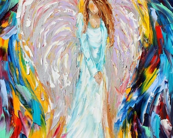 Fine Art Print 16 x 20 from oil painting by Karen Tarlton - Calling all Angels Print