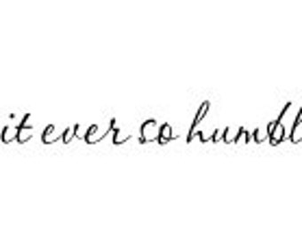 Be it ever so humble wall decal 23 x 3""