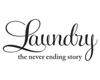 Decal Laundry the never ending story vinyl wall decal