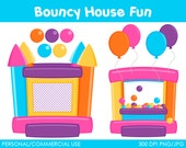 Bouncy House Fun Clipart - Digital Clip Art Graphics for Personal or Commercial Use