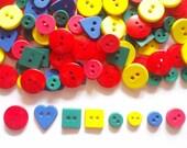 100 pcs Mix Buttons 2 and 4 holes - mix shape