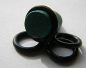 8mm, 0g, Black, Oh Ring Rubber, O-Ring Replacement Grommet for Gauges, Plugs, and Piercings