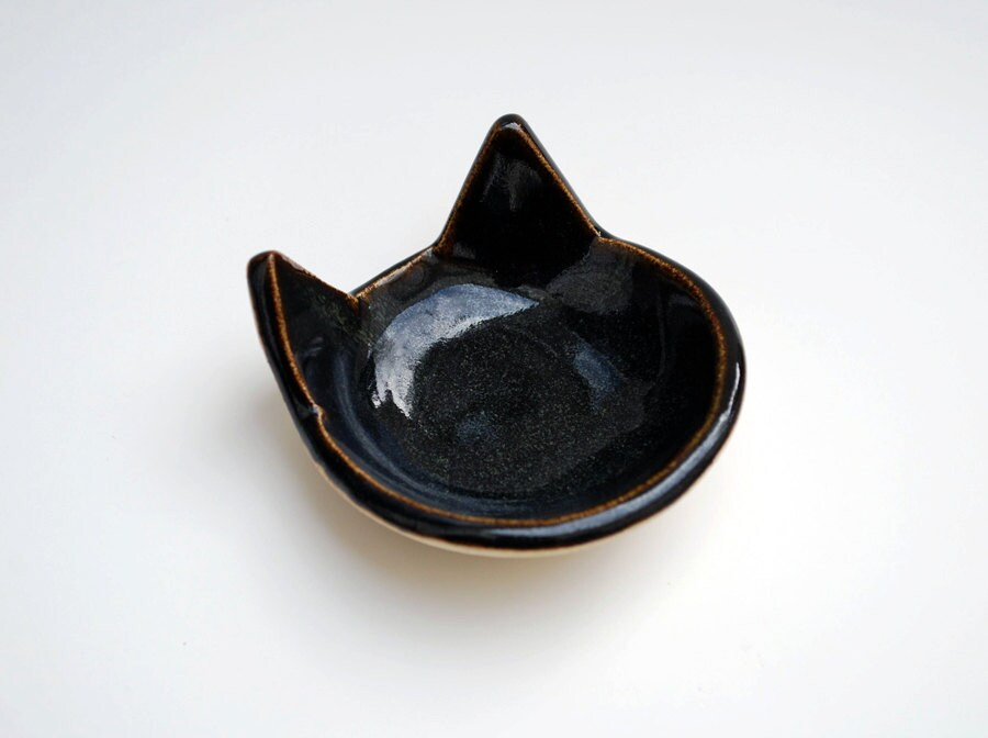 Black Cat Spoon Rest