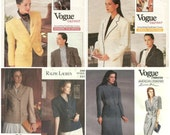 Lot of 4 Vogue American Designer patterns RALPH LAUREN.-