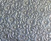 Nickel Silver Textured Metal Sheet Stars Moon and Sun Pattern 20g - 3 x 2 1/4 inches - Bracelets Pendants Metalwork