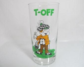 Vintage Mid Century Retro Golf Glasses