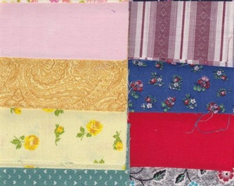 Fabric  25 Precut  4 X 12 Inch Strip Pieces - Cotton Material 4 Charm Quilting - Miniature Projects - Vintage Variety Lot 2000