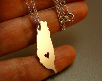 Taiwan hand cut sterling silver pendant , sterling silver chain, custom heart