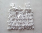White ruffle top infant and toddler sizes available