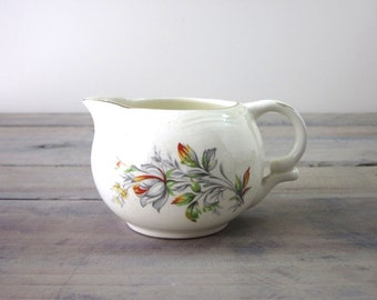 Vintage English Shabby Chic China Creamer Pitcher
