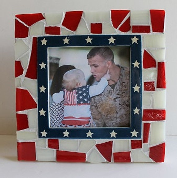 Mosaic Patriotic Photo Frame