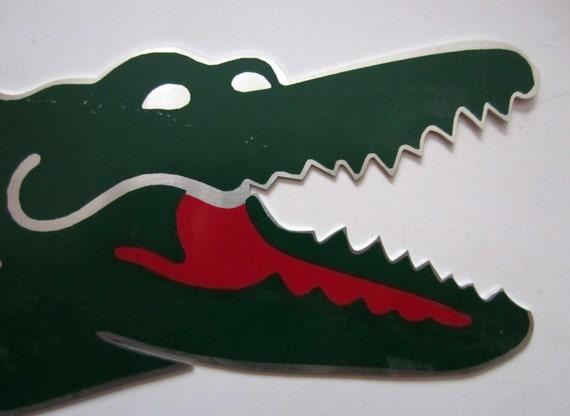 Vintage Promotional Crocodile Logo French Clothing Brand