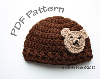 Crochet Panda Hat Pattern Beanie Instruction How-To Guide