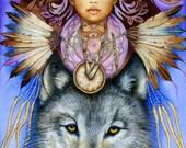 Wolf Spirit - A Fine Art Greeting Card