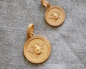 "Angeles Collection France -  Large Bee  ""Honey""  - Gold Vermeil Charm"